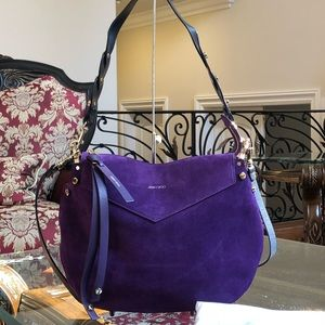 Authentic Jimmy Choo Artie Suede Iris handbag